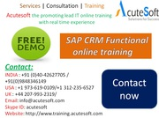SAP CRM Functional  Online Training with Project Case Studies-AcuteSof