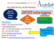 SAP GTS  Online Training with Project Case Studies-AcuteSoft