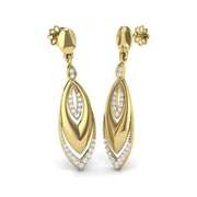 Ladies earrings - diamond jewellery