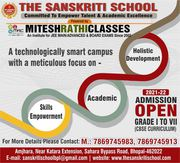 Best CBSE School In Bhopal - The Sanskriti School Admission Open 2021