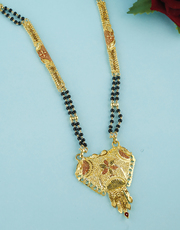 Anuradha Art Jewellery Offers Long Mangalsutra Designs in Gold