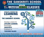 The Sanskriti School,  Admission Open,  Best school in Bhopal,