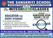 The Sanskriti School,  Admission Open,  Best school in Bhopal