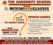 The Sanskriti School,  CBSE school Admission Open in Bhopal For 2021